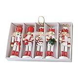 Gidenfly Juego de adornos para cascanueces para árbol de Navidad, decoraciones interiores...