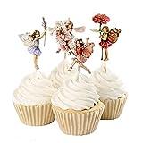 Papel de Hornear Nuevo 4 / Flor Hadas Cupcake Toppers Picks para Decoraciones de...