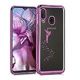 kwmobile Carcasa Compatible con Samsung Galaxy A20e - Funda de TPU Hada en Rosa...