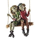 Pixie Pareja colgante columpio, escultura misterio mágico de alta calidad, decoración de...