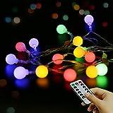 Luces de hadas LED Cadena de luces impermeables port谩tiles para exteriores e interiores...
