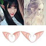 Cuigu - 1 par de orejas de Elfo, de látex, diseño de hada, cosplay, decoración de...
