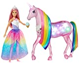 Barbie-FXT26 Barbie Dreamptopia Muñeca con Pelo Rosa y su Unicornio Luces Mágicas...