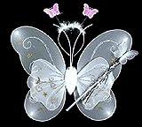 Conjunto de 3 mariposas para disfraz de hada para niños: alas de mariposa, varita y...