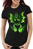 style3 El Hada Oscura Camiseta para Mujer T-Shirt maléfica la Bella Durmiente, Talla:M