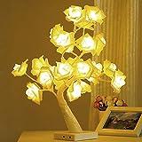BSTOB Lámpara de Mesa, lámpara de luz de árbol bonsái Rosa de Escritorio, lámpara de...
