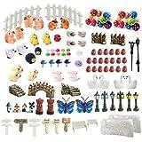 ZJW - Kit de adornos de hadas miniatura, accesorios de jardín, 112 piezas para...