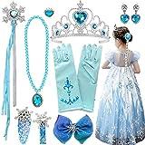 Disfraz Frozen Accesorios,Conjunto Accesorios de Princesa del Hielo,Princesa Vestir...