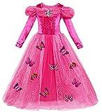 Le SSara Manga Larga Chica Princesa Cosplay Disfraces Fantasía vestido de mariposa (120,...