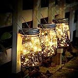 SUNNOW Luz Solar Jardín - Juego de 3 Lámparas Solares, 30 Luces LED de Hadas, Luces De...