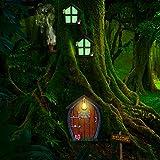 Ventana y Puerta en Miniatura de Casa con L谩mpara de Arena Puerta y Ventana de Dormir de...