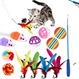 Homeluck 13 unids/set mascota divertido gato varilla pluma bola pesca caña jugar varita...