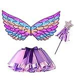 Alas Hada Disfraz, Tutu Wings and Set Butterfly Wings Disfraz de Princesa de Hadas para...