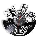 RFTGH Hada de los Dientes Disco de Vinilo Vintage Reloj de Pared clínica Dental...