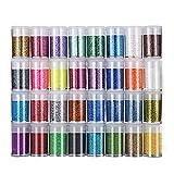 Purpurina Manualidades 32 Colores Purpurina para Disfraces, Maquillaje y Manualidades,...