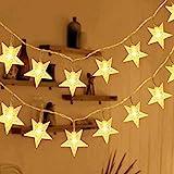 HOMVAN Guirnalda de Luces, Luces Estrellas de Hadas a Pilas 7,5 metros 50 luces LEDs Luces...