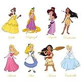 decalmile Pegatinas de Pared Princesa Vinilos Decorativos Sirena Ariel Blancanieves...