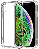 Funda iPhone X iPhone XS Carcasa HUSHCO Ligera Silicona Suave TPU Gel Bumper Case Cover de...