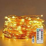Guirnalda Luces de Hada 20M 200 LED Luces Navidad USB, 8 Modos Cadena de Luces LED de...