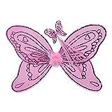 Lucy Locket – Disfraz de alas y Varita para niños – Alas de Hada Color Rosa – Alas...