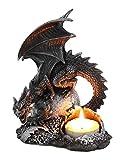 Portavelas, diseño de dragón gótico