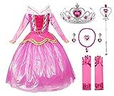 JerrisApparel Rosa Vestido de Princesa Disfraz Niña Vestido de Fiesta Vestido de...