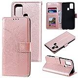 HTDELEC Funda Samsung Galaxy A21s Rosa,Premium y Elegante Cuero PU Cover [Slim Flip]...