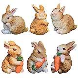 CYSJ 6 pcs Figuras de Adornos de jardín de Conejos Conejos Accesorios de jardín de...