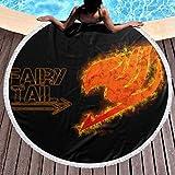 Toalla de playa de cola de hada, grande, redonda, con borlas, manta de playa, a prueba de...