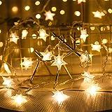 Guirnalda de Luces,Star Luces de Hadas Estrella de la Noche Luz de la Secuencia 6M 40Pcs...