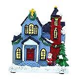 Gazechimp Mini casa de Navidad LED de Resina de Estilo Vintage, casa Ilumina, Juego de...