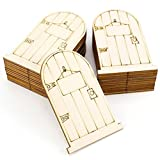 ROSENICE Elf puertas madera de hadas hadas corte l谩ser sin pintar con placa 25pcs