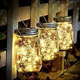 SENYANG Lámpara de Decoración Solar - Juego de 3 Luz Solar Jardín 30 LED Impermeable...