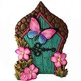 GlitZGlam Puerta de Hadas con Mariposa en Miniatura para Hadas de jard铆n y gnomos en...