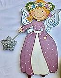 Hada corona de flores.Luz hada decoración dormitorio de niña.Lámpara para ayudar a...