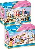 PLAYMOBIL® Princess 70453 70454 - Juego de cama y vestidor con bañera