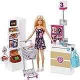 Barbie Muñeca vamos al supermercado, accesorios muñeca, regalo para niñas y niños 3-9...