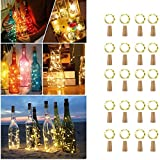[Paquete de 20] Luces de botella LED, Luz de hadas de botella Cadenas Luces para Botella...