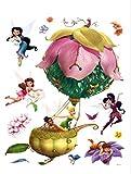 1art1 Hadas Disney - In A Wonderfull Ballon Pegatina para Pared (85 x 65cm)