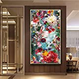 5D Diamond Painting Kit Full Drill Large Size Round drill Color Flowers 50x100cm DIY...