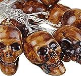Calaveras Decorativas LED Halloween Skull String Lights Linterna Luces de Hadas de la...