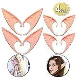 AniSqui Orejas De Elfo Cosplay 12cm, (2 Pares de látex Elf Ear), Orejas de Duendes Hadas by