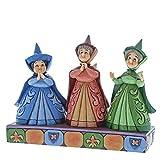 Disney Invitados Reales-Figurina de Las Hadas Flora, Fauna y Serena, Resina, Multicolor, 6.00x15.00x7.00 cm