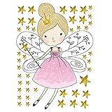 Estrellas etiqueta de la pared de dibujos animados de hadas calcomanías de niña hogar...