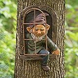 LiNMNM Resina gnomo corto jardín decoración estatua viejo hombre fantasma hadas...