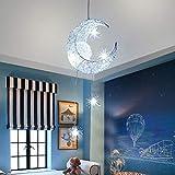 ALLOMN Lámpara Colgante LED, Luz de Techo Lámpara de Hada Luna y Estrellas Lámpara...