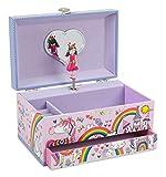 Jewelkeeper - Caja de Música para Joyas Hada y Unicornio, con Cajón Extraíble -...