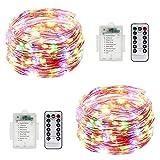 Luces de hadas con mando a distancia, 32,8 pies, 100 luces LED que cambian de color,...