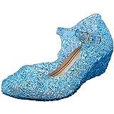 Tyidalin - Bailarina con tac贸n para ni帽as, dise帽o de cal贸n, Azul (azul), 31 EU