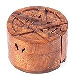 Windalf Caja para joyas, diseño de pentagrama, diámetro de 9 cm, caja de regalo, joyero,...